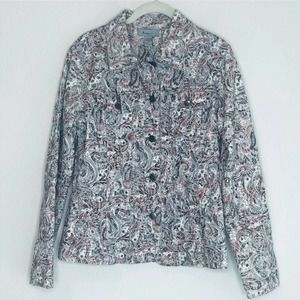 Analogy Jean Style Jacket Lightweight Gray Coral